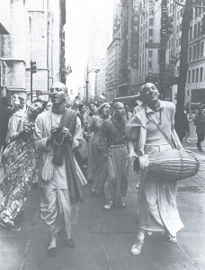 "Hare Krsna devotees on New York City's Fifth Avenue ""We are requesting that you chant God's holy name"""