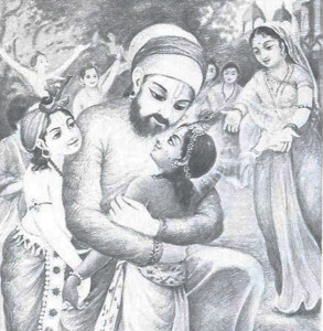 The inhabitants of Vrndavana embraced Lord Krsna. Hearing of these pastimes alleviates all anxiety.