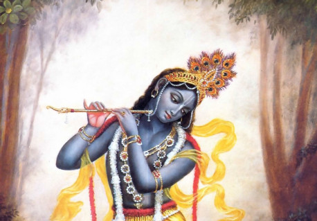 Lord Krishna Playing His Flute