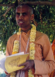 "Lokanatha Swami, an organizer of the year-anda- half-long pada-yatra, or ""walking festival."""