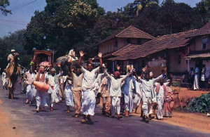 The Hare Krsna movement's eighteen-month-long procession to the holy places Lord Caitanya visited five hundred years ago reaches Udupi in March