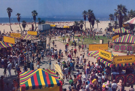 A Pacific coast festival site
