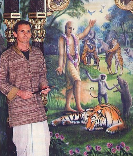 Visnu dasa and his airbrushed temple-room murals were recently featured in the largest newspaper in Vancouver.