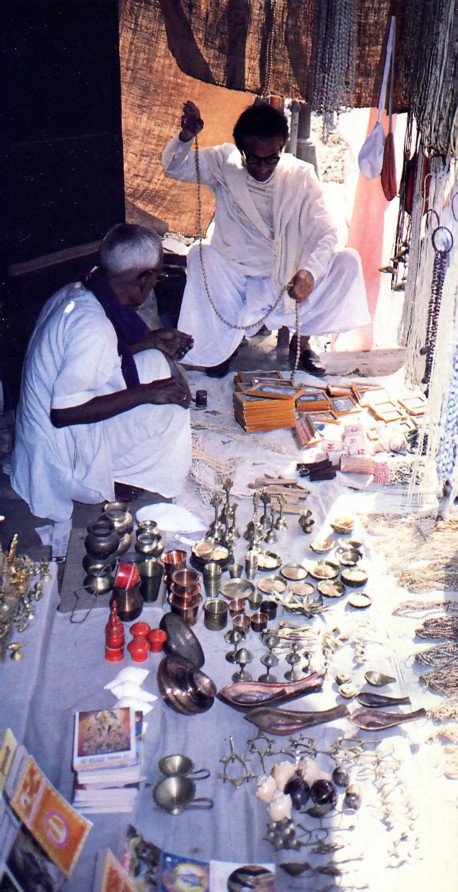 Spiritualized shop ping in the city of Navadvipa, where the goods are for worshiping and remembering Lord Caitanya.