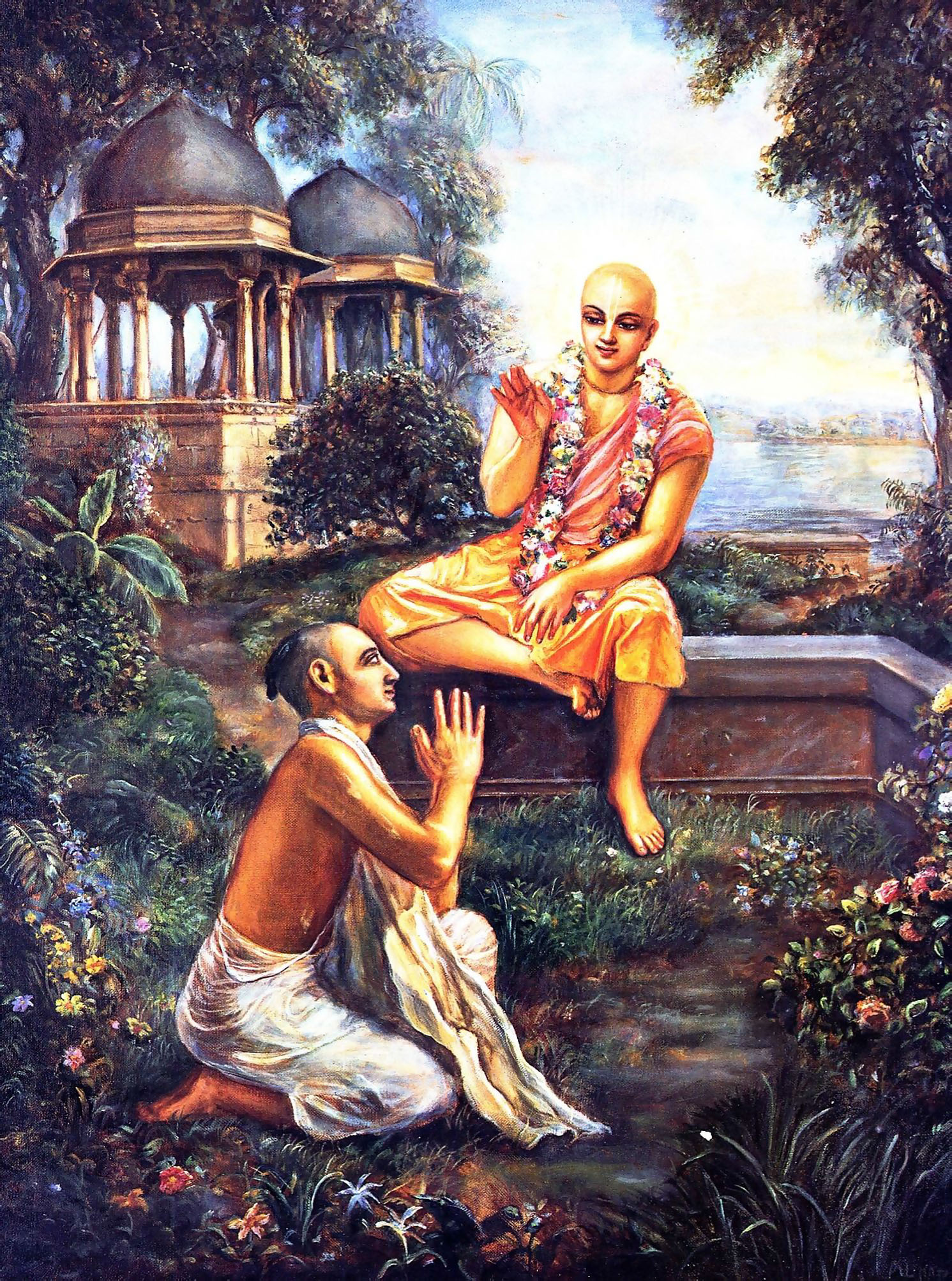 Image result for images of chaitanya mahaprabhu and Rupa Goswami together