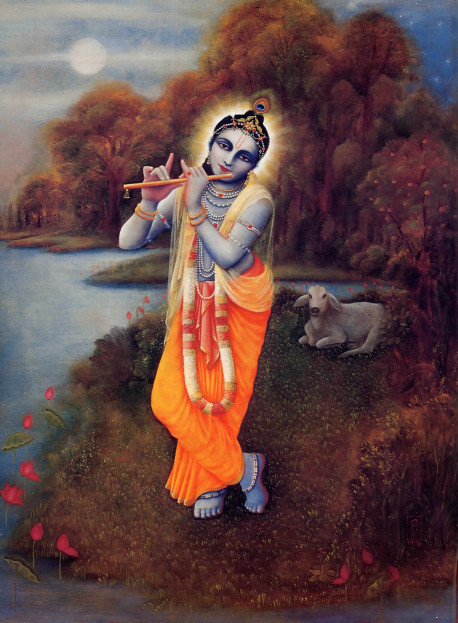 """In the Bhagavad-gita Krsna states that He is the Supreme Absolute Truth, in no way subordinate to any """"higher reality."""" Great spiritual teachers throughout history have accepted Krsna's words and have substantiated them with numerous references from the Vedic literature."""